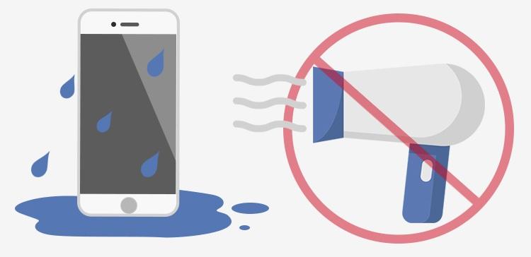 Was man auf keinen Fall nicht tun sollte, wenn das Handy nass geworden ist