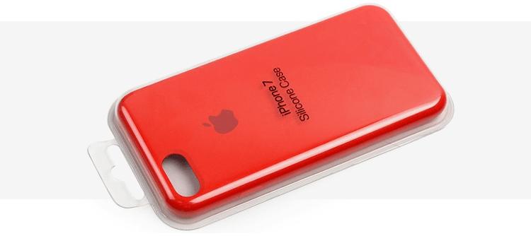 Czerwone etui Apple Silicone Case na iPhone 7