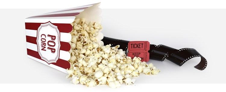 Popcorn i bilety do kina