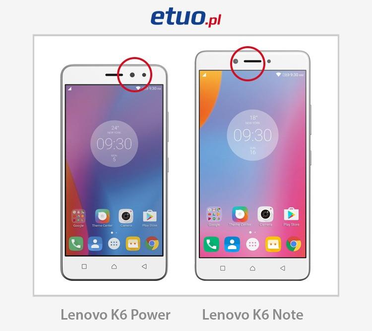 Lenovo K6 Note, Lenovo K6 Power, porównanie telefonów, różnice smartfonów