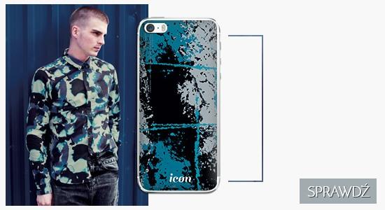 Etui na telefon icon blue safari