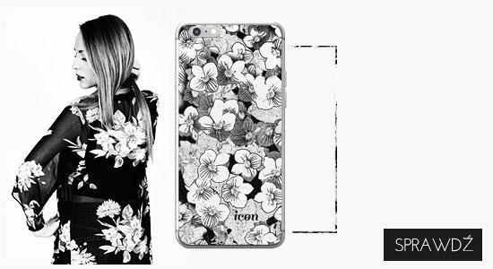 Etui na telefon icon delikatne kwiaty