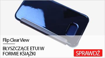 Etui na telefon Flip Clear View do Samsung Galaxy S6